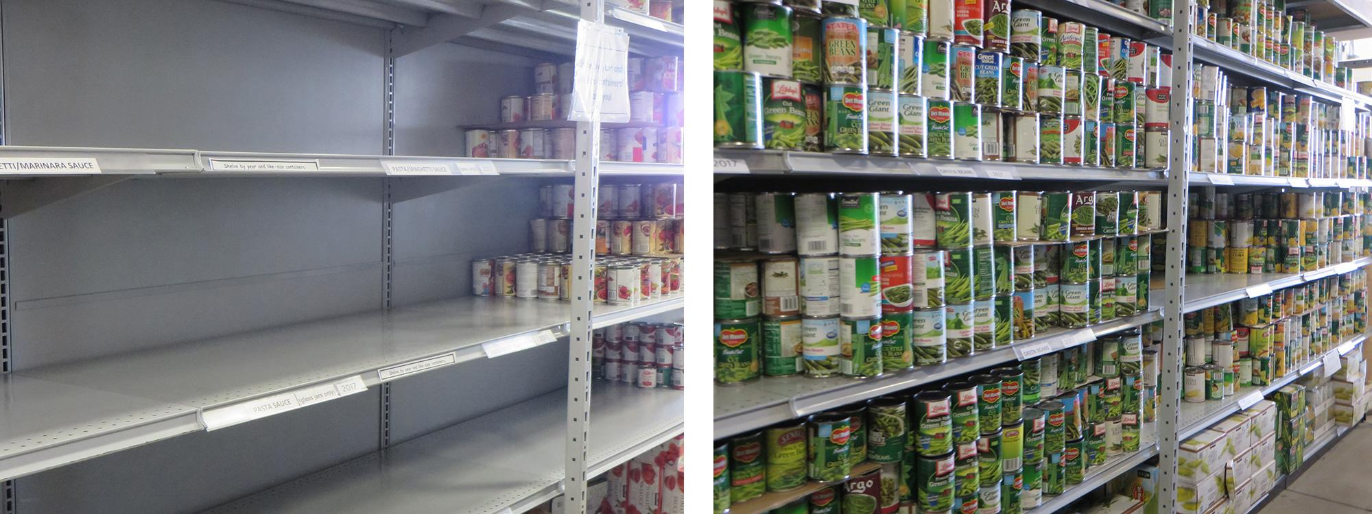 food pantry volunteers at families forward